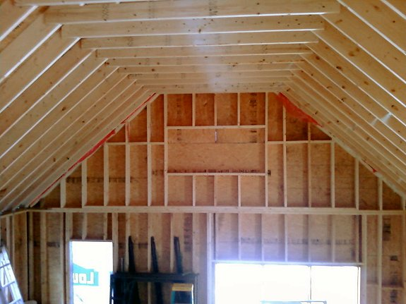 18x20 Garage With High Cielings : Story cabin in monroe maine